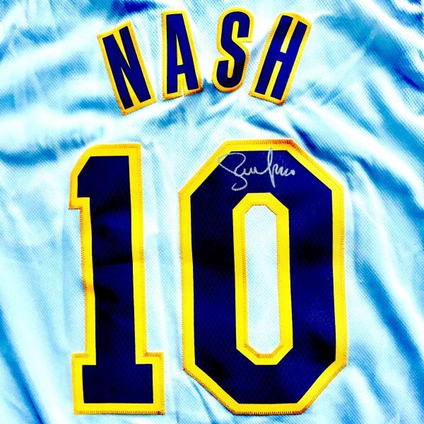 reputable site fd26c 21d50 Autographed Steve Nash Los Angeles Lakers #10 Swingman Jersey