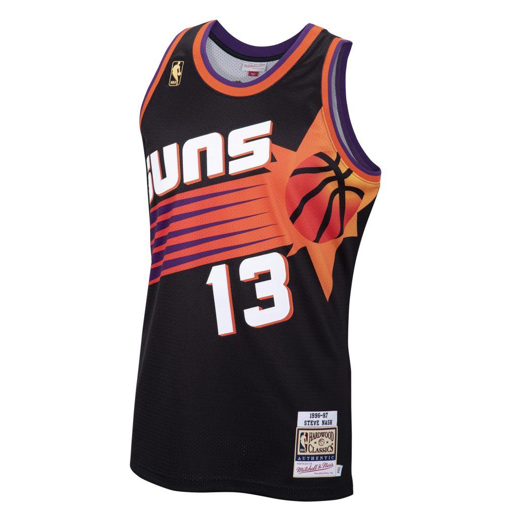 Autographed Steve Nash Retro Suns #13 Authentic Jersey