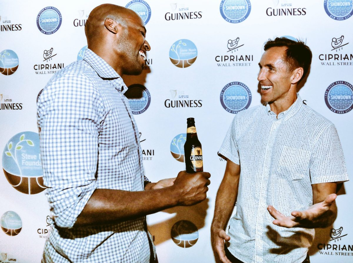 Friend of the Foundation Jordan Harris catches up with Steve Nash at Showdown After Hours at Cipriani, hosted by Guinness
