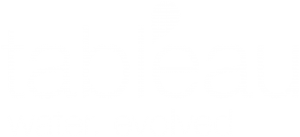 Tableau logo - all white